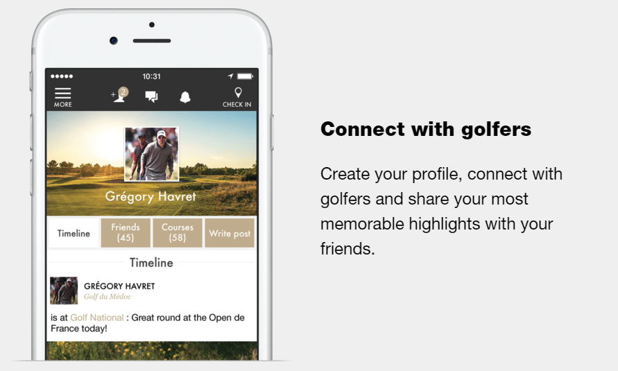 connect with golfers