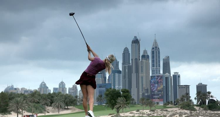 Paige Spiranac Emirates Golf