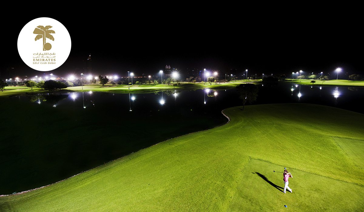 Emirates Golf Club - Faldo Course by Night