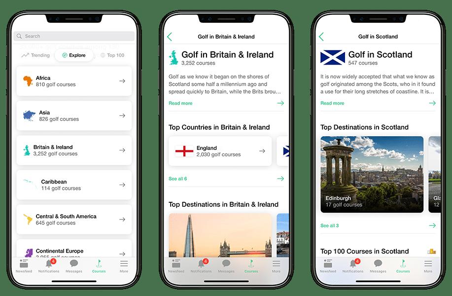 Explore Golf Courses