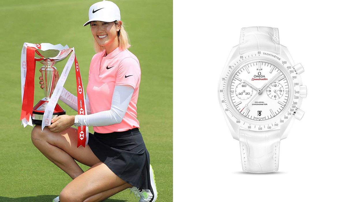 Michelle Wie - Omega Speedmaster Moonwatch Co-Axial Chronograph 44.25